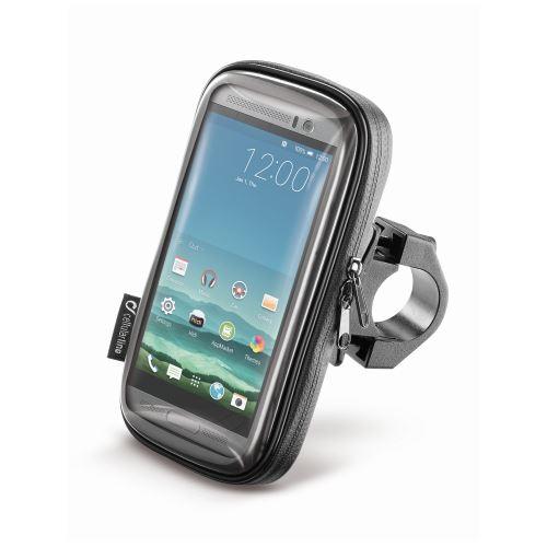 """Vodeodolné púzdro Interphone SMART pre telefóny do veľkosti 5.2 """", úchyt na riadidlá, čierne"""
