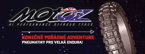Australské pneumatiky MOTOZ pro velká cestovní endura v nabídce Technical Gear Store